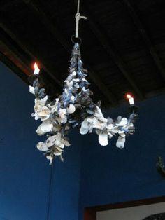 Blott Kerr-Wilson, shell artist:  chandelier