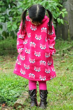 Fox Fleece Dress for Little Momo
