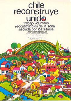 Afiche Unidad Popular CHILE Chili, I Want To Know, Latin America, Vintage Travel, Vintage Posters, Popular, Graphic Art, Illustration, Communism