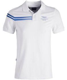 Shop the Hackett White Reflective Stripe AMR Polo Shirt online. Polo Shirt Logo, Polo Tee Shirts, Polo Shirt Design, Polo Design, Striped Polo Shirt, Golf Shirts, Striped Tops, Camisa Polo, Smart Casual Polo Shirt