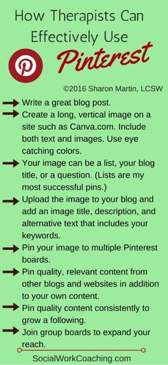 How to Therapists Can Effectively Use Pinterest to Grow a Private Practice and Blog