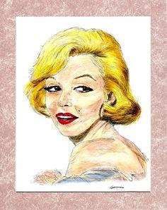 Marilyn Monroe Hollywood Icon Legend by RockStarPortraitsLtd