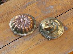 Set of 2 Small Copper Jello Molds Swedish Vintage by FoxBoxMarket $10.50