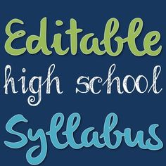 FREEBIE! High school students should have a syllabus just like their college counterparts. By introducing students to this concept early they will be better prepared for the future!