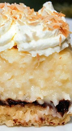 Coconut Cream Pie (and Chocolate) Bars