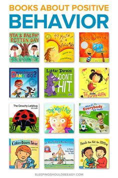 Help your kids learn how to behave, get along with others, and handle their emotions with these children's books about positive behavior. Play Based Learning, Kids Learning, Children Will Listen, Kids Behavior, Behavior Charts, Gentle Parenting, Parenting 101, Positive Behavior, Character Education