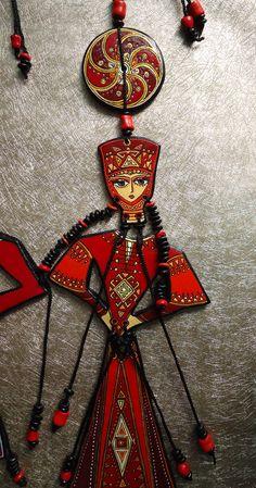 Hand crafted ceramic ethnic Armenian figure by Ar-Mari Rubenian