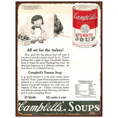 Give thanks all year with this Campbell's metal sign.