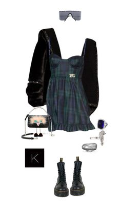 """""""Untitled #4291"""" by kimberlythestylist ❤ liked on Polyvore featuring Dr. Martens, Porsche Design, Fendi and David Yurman"""