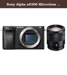 Sony Alpha a6300 Mirrorless Digital Camera Body With Sony Vario-Tessar T 16-70mm F4 ZA OSS E-Mount NEX Camera Lens. Sony introduces the latest addition to their award winning line-up of mirrorless cameras, the a6300. The camera boasts an unrivalled 4D FOCUS system that can lock focus on a subject in as little as 0.05 seconds, the world's fastest AF acquisition time. Additionally, the a6300 has an incredible 425 phase detection AF points that are densely positioned over the entire image…