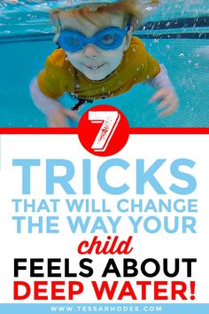 Deep Water: Help Your Child or Swim Student Overcome Their Fear of It Swimming Lessons For Kids, Toddler Swimming, Swim Lessons, Teach Kids To Swim, Learn To Swim, Baby Float, Baby Pool, Water Aerobics, Swimming Gear
