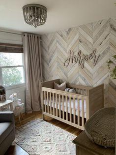 White Washed Wood Nursery - Project Nursery Baby Bedroom, Room Baby, Girl Room, Baby Room Decor, Girls Bedroom, Wood Wall Nursery, Nursery Room, Nursery Themes, Nursery Ideas