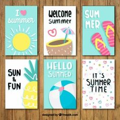 Nice summer card collection