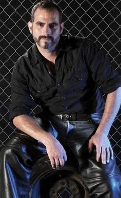 Mens Leather Pants, Motorcycle Men, Tough Guy, Bearded Men, Studs, Daddy, Sexy, Fitness, Clothing