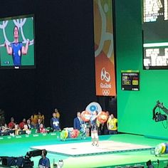 Power hour at #rio2016 @Olympics #weightlifting #cleanandjerk #thailand