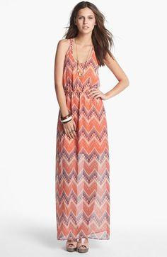 dee elle Racerback Print Maxi Dress (Juniors) available at #Nordstrom