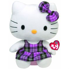 purple stuff | New Hello Kitty Ty Beanie Baby Purple Plush Doll Stuffed Animal Toy 6 ...