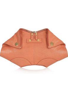Alexander McQueen  De Manta leather clutch-How I wish!!!