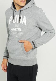 Puma Kapuzenpullover - medium gray heather - Zalando.de
