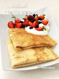 Naleśniki z białym serem, naleśniki, http://najsmaczniejsze.pl #food #naleśniki #placki