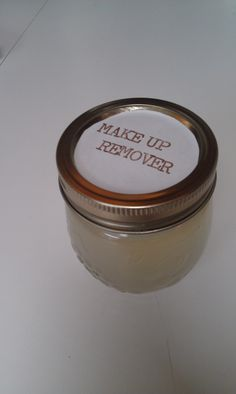 DIY Makeup Remover | littlewillowtree  Pour 1/2 tablespoon of baby shampoo into jar Pour 1/4 teaspoon olive oil or coconut oil Pour in enough water to fill the jar See all the oil float to the top Put lid on jar and shake it thoroughly Put a cute label on And you're ready to use it!  Shake before each use. Store room temperature.
