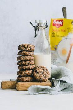 Orechové sušienky bez lepku Vegan Vegetarian, Vegetarian Recipes, Cereal, Food And Drink, Low Carb, Gluten Free, Cookies, Breakfast, Fit