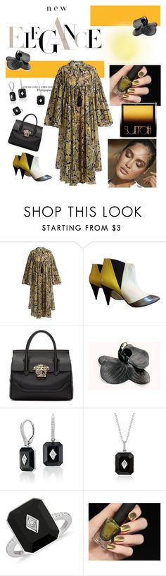 """""""New Elegance"""" by scope-stilettos ❤ liked on Polyvore featuring Etro, Pierre Hardy, Versace, Black Orchid and Surratt"""