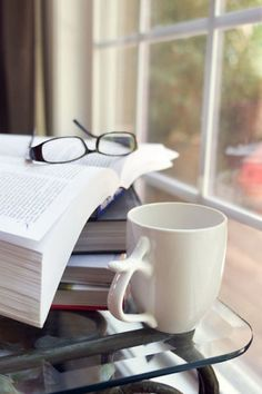 Settle in with a stack of books, a cup of coffee, and a serene afternoon. Coffee And Books, My Coffee, Coffee Cups, Reading Motivation, Wordpress, Motivational Books, Wine Online, Shipping Wine, Wine Storage