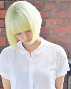 WEBSTA @ soleige - #ボブ#ブロンド#ヴァージンスノー#外国人風カラー #ソレイジュ#soleige#派手髪…