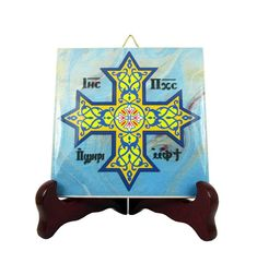 Holy Art serie by TerryTiles2014 wall hanging / ornament / high quality ceramic tile. A great item for collectors or to use as a gift for anyone. 100% handmade in Italy *** DETAILS *** You can choose between two sizes for this tile. 1) Size : cm 10 x cm 10 (about 4 x 4) 2) Size :