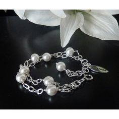 Echtsilber Armband mit Perlen Ornara ®  Design