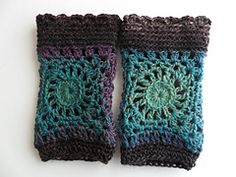 """Ravelry: Fingerless gloves """"Lily"""" crochet pattern by Angèle Lumière"""