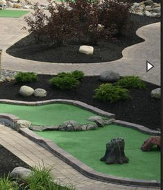 Miniature Golf, Outdoor Games, Golf Courses, Bricolage, Outside Games