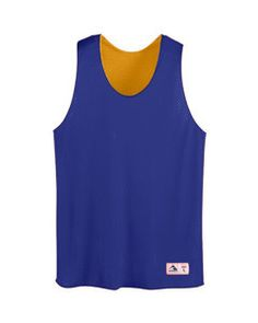 Augusta Tricot Mesh Reversible Tank AS197 PURPLE/GOLD