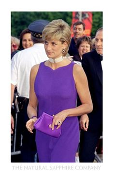 Princess Di in purple