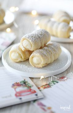 Cream Horn Cookies (Lady Locks) recipe These Cream Horns (Lady Locks) are a must-have cookie recipe for my family. The flaky crust and creamy filling make them irresistible! Christmas Desserts, Christmas Baking, Christmas Cookies, Pastry Recipes, Baking Recipes, Cookie Recipes, Köstliche Desserts, Dessert Recipes, Cream Horns