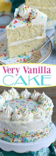 Very Vanilla Cake | Cake And Food Recipe