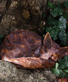 Take A Look At This Sleeping Fox Statue By Evergreen On #zulily Today! The  Quick, Brown Fox Needed A Nap In My Garden. Shhhh. | Pinterest | Evergreen,  Foxes ...