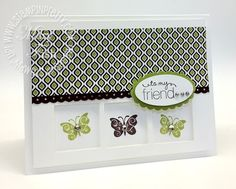 Stampin up demonstrator blog catalog square punch card ideas video tutorial  rubber stamps