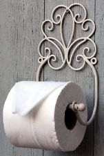 Cream Metal Toilet Roll Holder Shabby Chic Scroll Design French Vintage  Bathroom Soporte Para Papel Higiénico 65ae058b0809