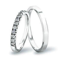 Snubní prsteny z bílého zlata : Goldex. Wedding Stuff, Wedding Rings, Wedding Ideas, Engagement Rings, Jewelry, Diamond, Enagement Rings, Jewlery, Jewerly