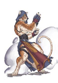 catfolk, monk