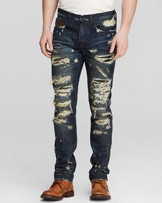 PRPS Goods & Co. Jeans - Demon Breathless Destructed Slim Fit in Dark Vintage | Bloomingdale's