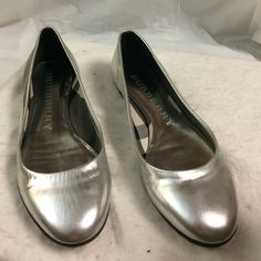 Selling this Authentic Burberry metallic silver ballet flats in my Poshmark closet! My username is: b287807. #shopmycloset #poshmark #fashion #shopping #style #forsale #Burberry #Shoes