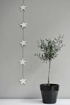 Idee met Action zelfdrogende klei. Kerstdecorantie
