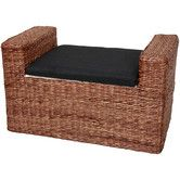 In my office?  recover the cushion with the fabric i have? Found it at Wayfair - Rush Grass Storage Bench