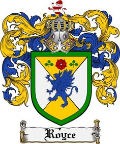 Royce Coat of Arms Royce Family Crest Instant Download - for sale ...