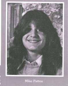 Mike Patton's High School Yearbook photo.