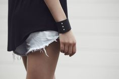 Minimal & Chic | Our leather cuff perfectly completing any outfit | Raku Collection