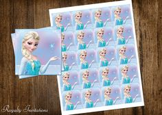 Disney Frozen Birthday Party Cupcake Toppers por RoyaltyInvitations